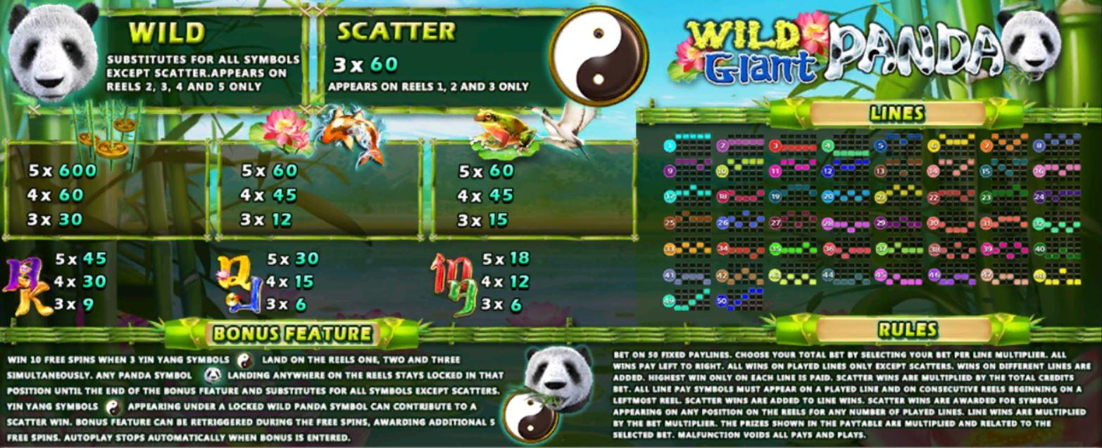 slotxo-Wild-Giant-Panda-โบนัส